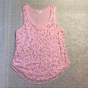 Pink Sequin Candie's Tank Top